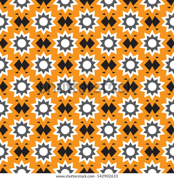 Seamless pattern with hexagonal stars