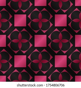 Seamless pattern as imitation of colored metal foil. Background with a metal surface as a graphic design for wider use. Metallic color regular seamless pattern.  Red and black.