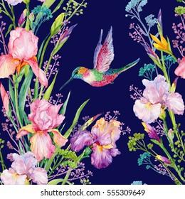 Watercolor Hummingbird Images Stock Photos Vectors Shutterstock
