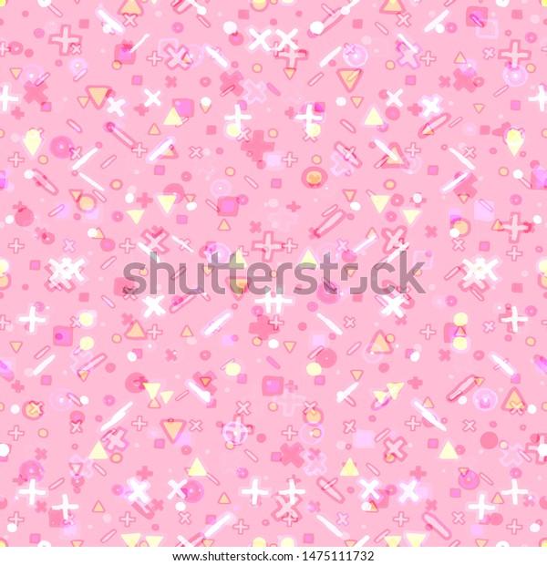 Seamless Pattern Kind Cute Pastel Pink Stock Illustration 1475111732