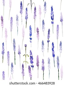 Seamless pattern, lavender watercolor