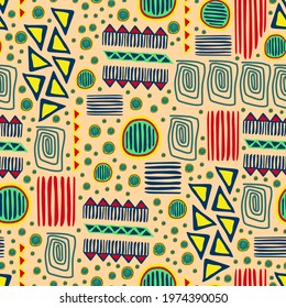 Seamless pattern with Mola Design