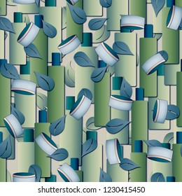 Seamless pattern with natural cosmetics.