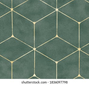 Seamless pattern ornamental watercolor texture luxury style wallpapers textile interior design golden monochrome classic geometry modern print damask