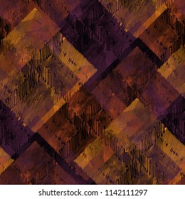 Seamless pattern patchwork design. Ethnic background with thread elements and watercolor effect. Textile print for bed linen, jacket, package design, fabric and fashion concepts.