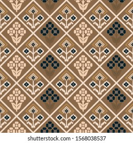 Seamless pattern with patola design background