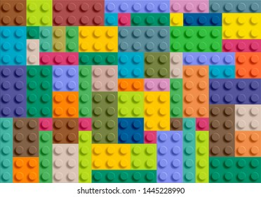 seamless pattern plastic gloss block bricks construction toy,corlorfull