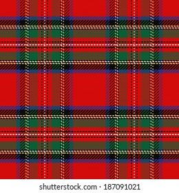 seamless pattern Scottish tartan Royal Stewart