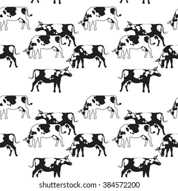 illustration of the horse seamless pattern mustangs on a blue All Breeds of Scorpions seamless pattern silhouette of a black cow isolated on white background raster illustration