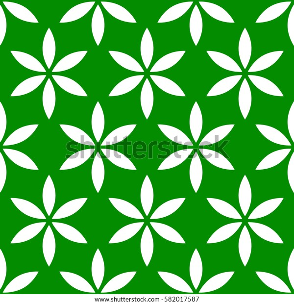 Seamless pattern with simple floral, flower motif