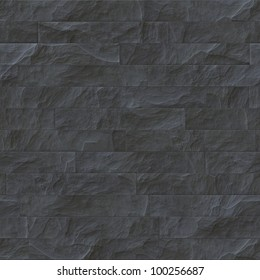 Seamless pattern of slate tiles