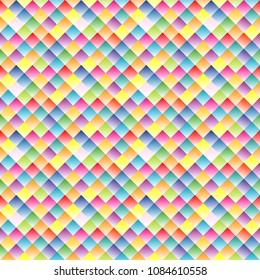 Seamless pattern with small colorful rhomboid shape