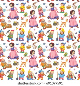 Seven Dwarfs Stock Illustrations Images Vectors