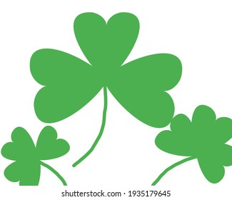 Seamless pattern of St Patrick's Day Clover illustration for a lucky spring design with shamrock. Green clover isolated on white background. Irish symbol pattern. Irish decor for the website.
