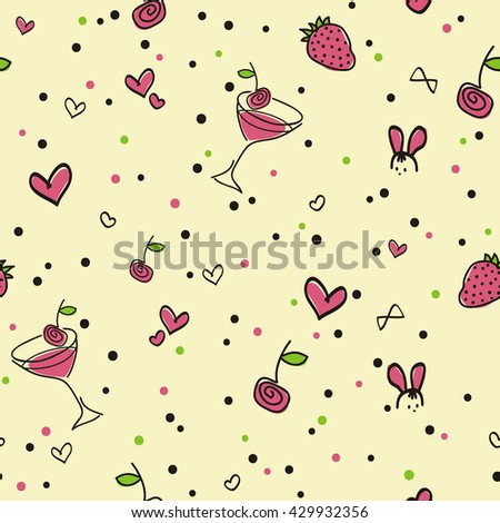 seamless-pattern-strawberry-cocktail-yel