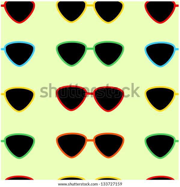 seamless pattern of sunglasses.raster copy of vector file