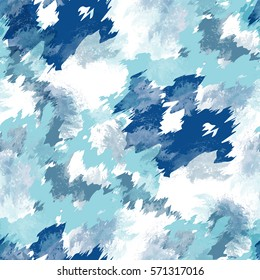 Seamless pattern tie-dye design. Indigo background with watercolor effect. Textile shibori print for bed linen, jacket, package design, fabric and fashion concepts.