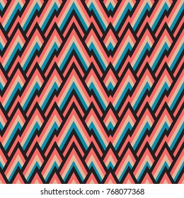 Seamless pattern with tribal fashion. Abstract background.  illustration. Pattern for the wrapping, home decor, website, brochures and presentations in a modern style and bright color