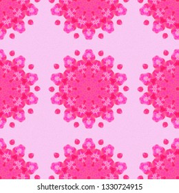 Seamless pattern for wallpaper, backgrounds and fabrics