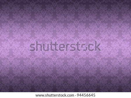 Seamless Pattern Wallpaper Floral Dark Purple