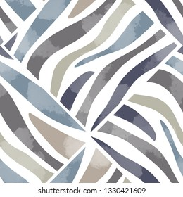 Seamless pattern wild design. Animal background with zebra stripes and watercolor effect. Textile print for bed linen, jacket, package design, fabric and fashion concepts.