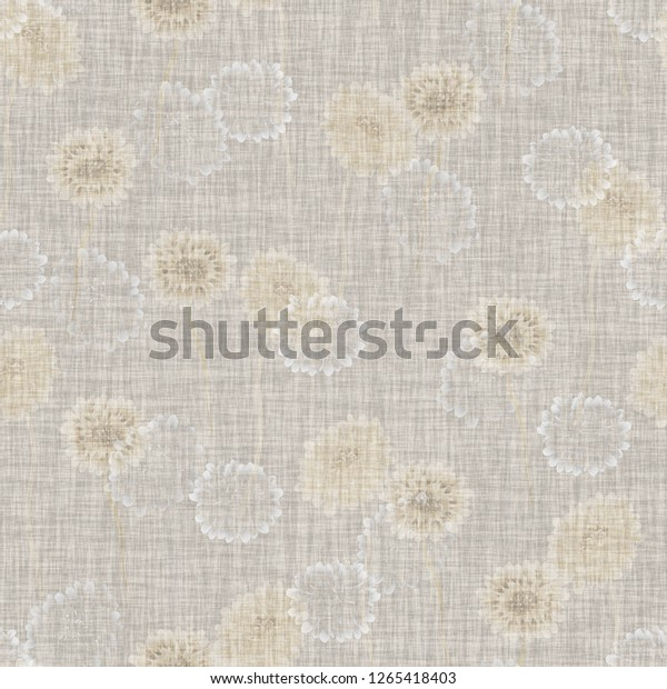 Seamless pattern of wild small beige flowers on a light beige  background. Floral background. Watercolor