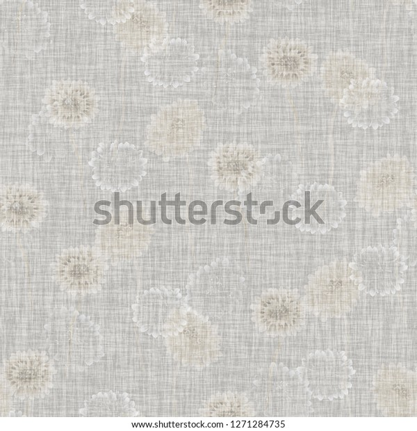 Seamless pattern of wild small beige flowers on a light gray background. Floral background. Watercolor