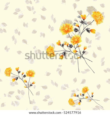 Royalty Free Stock Illustration Of Seamless Pattern Yellow Flowers