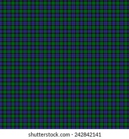 A seamless patterned tile of the Black Watch Military tartan.