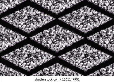 Seamless patterns of diamonds. 3d illustration