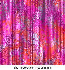 seamless pink animal curtain background