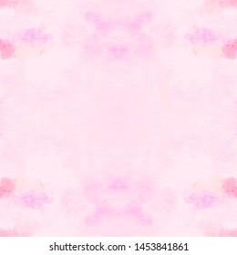 Seamless Pink Dyed Dirty Art Print. Watercolor Swimwear Design. Hand Drawn Surface. Craft Vintage Splatter. Batik Shibori Texture. Watercolour Abstract Pattern. Ink Hand Drawing.