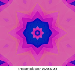 Seamless pink kaleidoscope texture. Illustration for design.