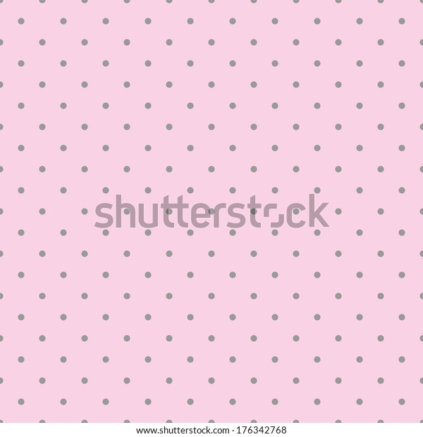 Seamless Pink Pattern Black Polka Dots Stock Illustration