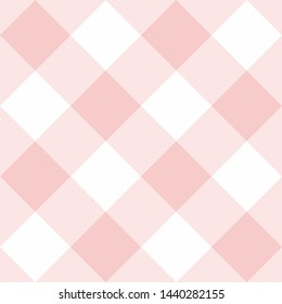 Seamless pink and white background - checkered pattern or grid texture for web design, desktop wallpaper or culinary blog website