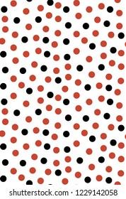 Seamless polka dot. Colorful polka dot