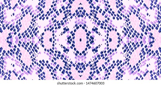 Seamless Predator Pattern. Purple and Pink Rapport. Jungle Wild Illustration. Cobra or Serpent Animal Print. Artistic Painted Cloth. Watercolor Predator Pattern.