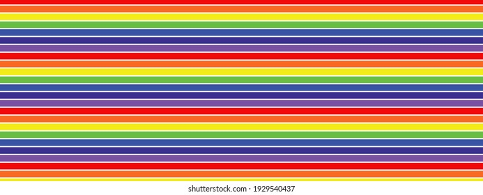 Seamless rainbow web banner background with red, orange, yellow, green, blue and indigo stripes.