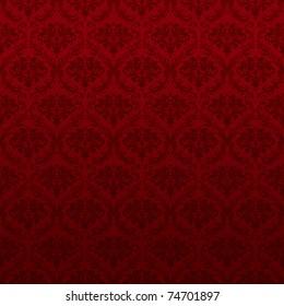 Seamless Red Wallpaper Pattern, bitmap copy