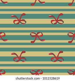 Seamless retro 1940s pattern in cute ribbons. Vintage sea striped background for textile, wallpaper, pattern fills, covers, surface, print, wrap, scrapbooking, decoupage. Regular order.