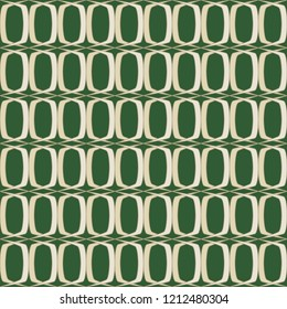 Seamless retro green and beige wallpaper pattern