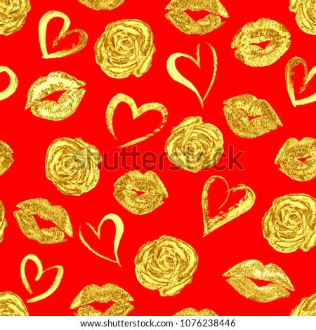 Royalty Free Stock Illustration Of Seamless Romantic Pattern