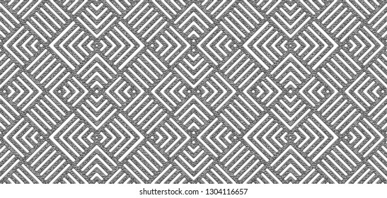 Seamless silver abstract square lines geometric pattern