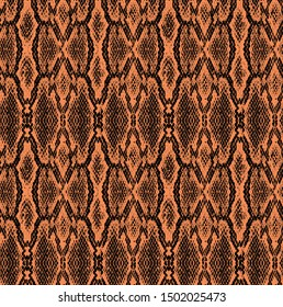 Seamless Snake Pattern Realistic Design Allover Print Trendy Colors Fall Summer Winter Animal Texture