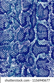 seamless; snake skin texture pattern cobalt and navy  colors  snake