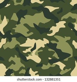 Seamless square camouflage series in the green scheme