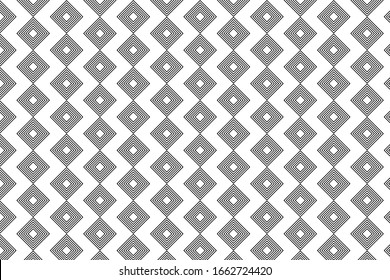 Seamless square pattern.Background of seamless geometric pattern.Square line illustration for making background.Repeat the black square linea