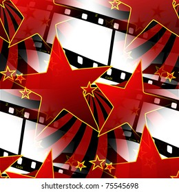 Seamless Stars And Film Strips Design