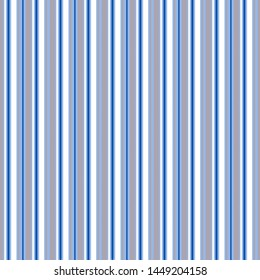 Seamless striped backgrounds. Lilac and white vertical stripes on a blue background. Fashion print for textiles, packaging, clothing