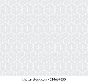 Seamless subtle gray ethnic honeycomb pattern